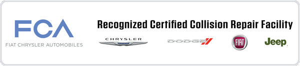 certified Fiat and Chrysler auto body repair shop