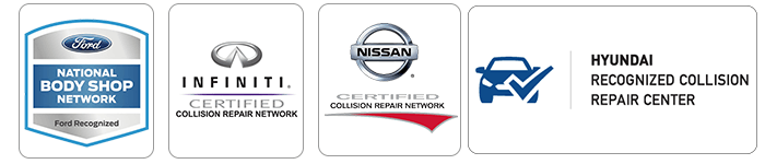 certified Ford, Hyundai, Nissan and Infiniti auto body repair shop