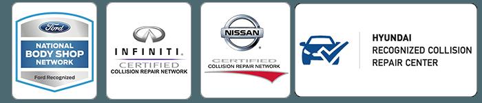 certified Nissan, Infiniti, Ford and Hyundai auto body repair
