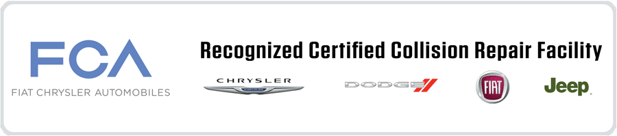 certified Chrysler Fiat auto body repair shop