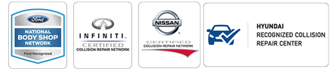 certified Ford, Hynudai, Nissan and Infiniti auto body repair