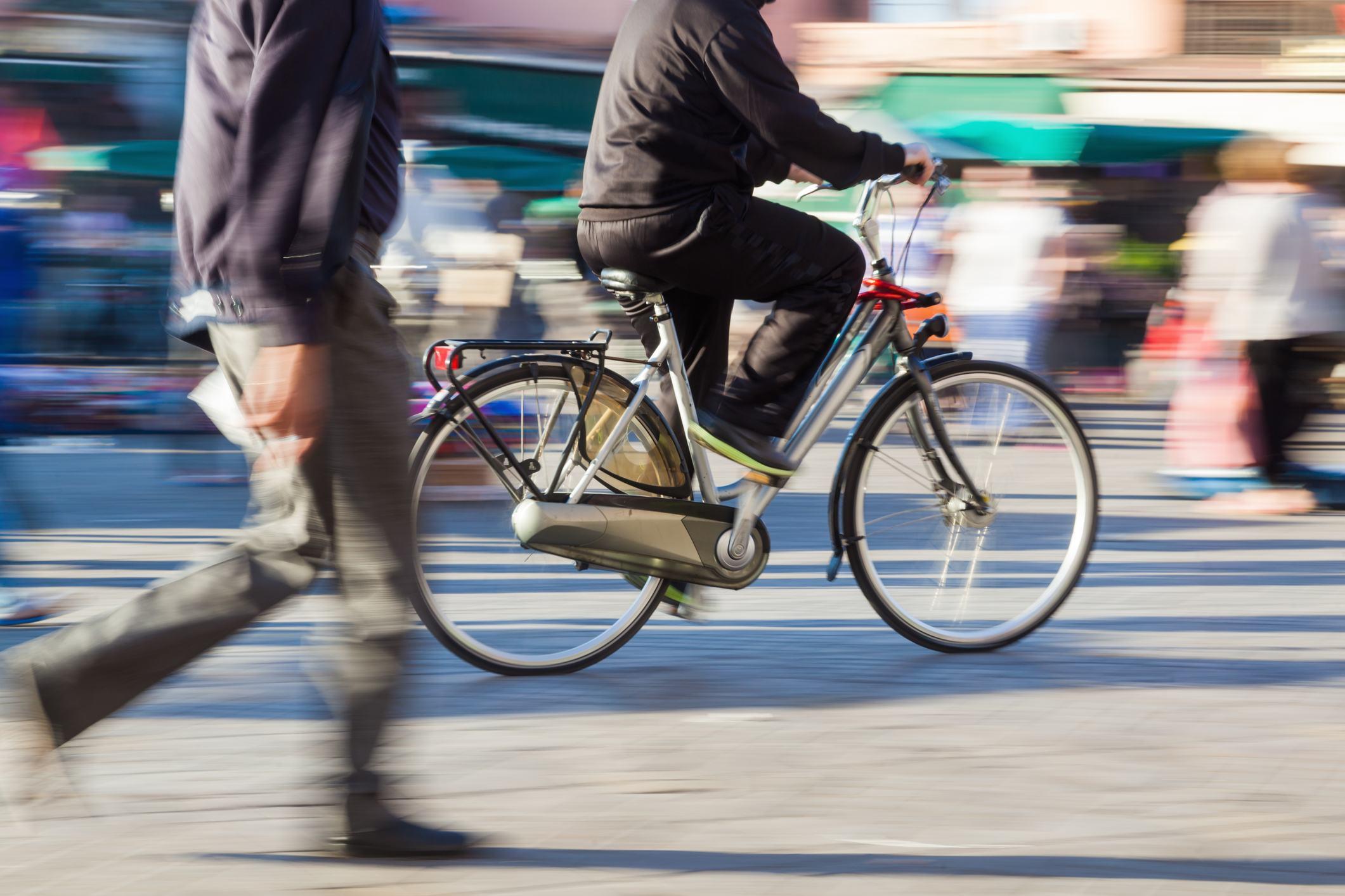 Springtime Pedestrians and Cyclists