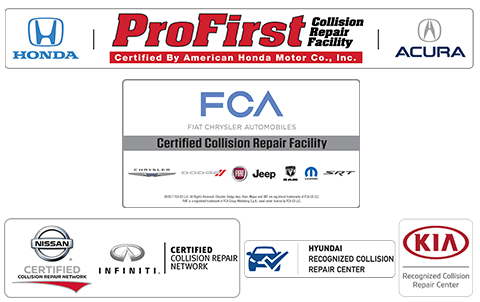 Certified Chrysler Fiat auto body repair