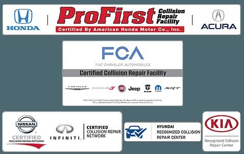 Certified Chrysler Fiat auto body repair